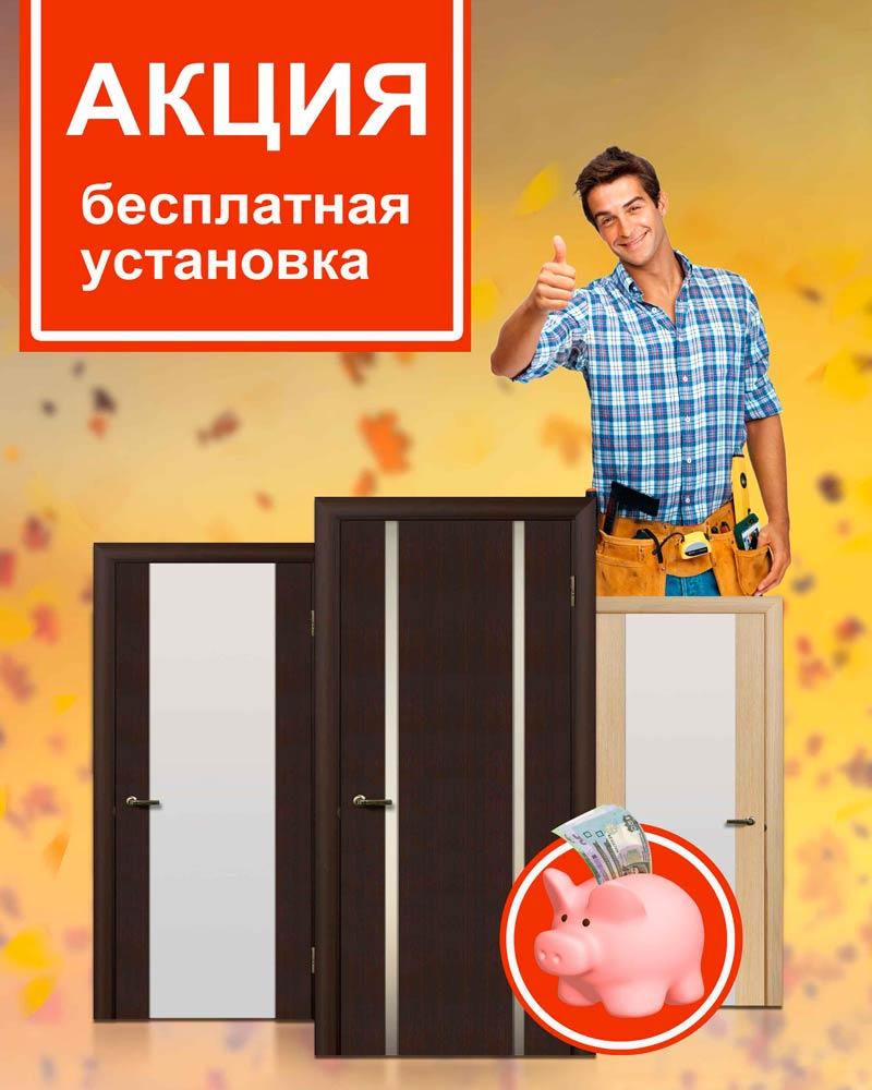установка входная дверь акции
